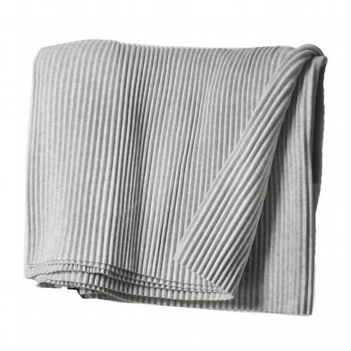 Pleated Throw Light Grey